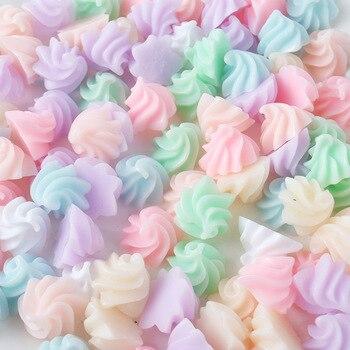 25 unids/lote resina plana trasera colorida helado 14mm-15mm manualidades decorativas bonsái hogar DIY