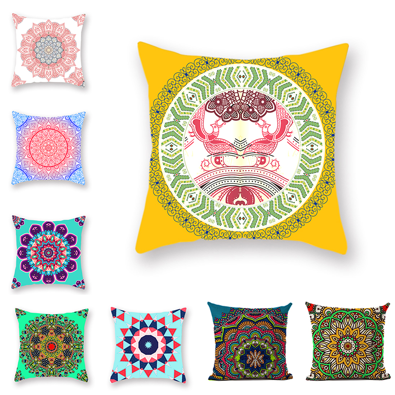 Bible Mandala Middle East Throwing Throw Pillowvcase Bohemian Ethnic Wind Bench Comfortable Cushion Cover Polyester Decoration