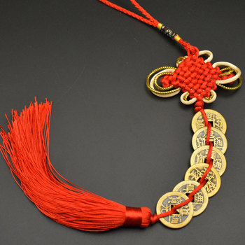 Chinese manual Knot Fengshui Lucky Charms Ancient I CHING Copper Coins Mascot Prosperity Protection Good Fortune Home Car Decor 23