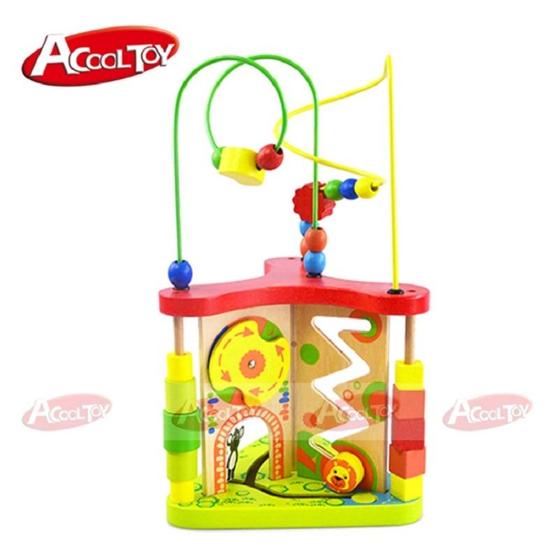 Enfants jouets bois Puzzles pour enfants multi-fonction en bois autour de perle labyrinthe forme Top qualité 3d Puzzle Juguete Madera pour bébé - 2