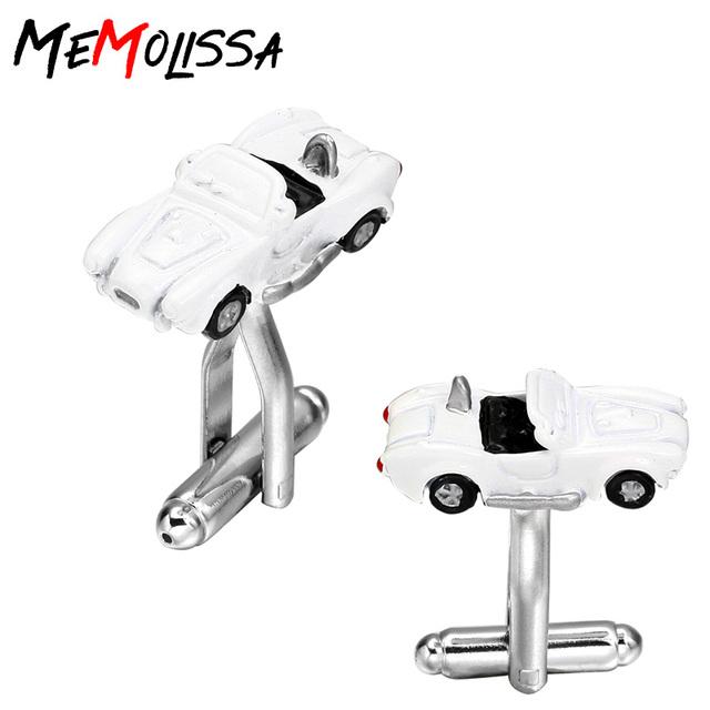 Memolissa White Car Cufflinks French Shirts Sleeve Nail Factory Direct