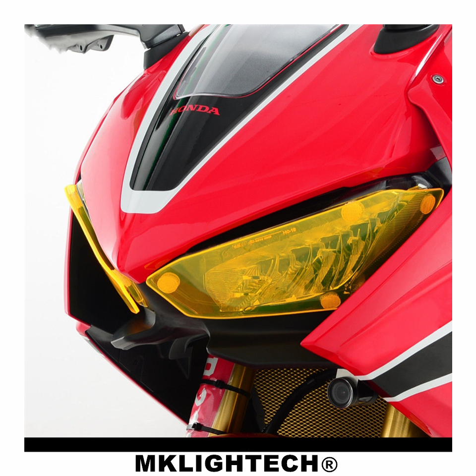 MKLIGHTECH Motorcycle Parts Headlight Protector Cover Screen Lens For HONDA CBR1000RR 2017 2018 CBR100 RR 2017 2018 in Covers Ornamental Mouldings from Automobiles Motorcycles