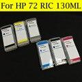 12 peças/lote recarga de cartuchos de tinta para HP 72 T620 T770 T790 T1120 T1200T 1300 T2300 Plotter com Chip de Reset automático