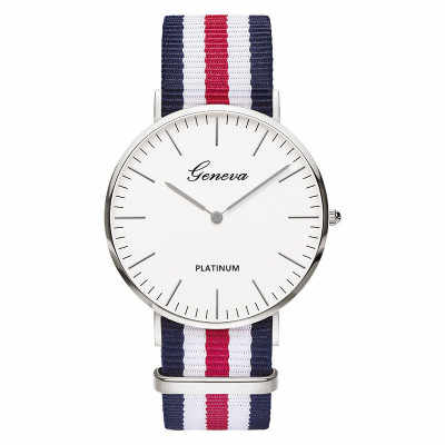 Zegarki meskie 2019 חדש יוקרה מותג גברים שעוני יד מקרית פשוט מרובה צבעים בד רצועת גברים נשים קוורץ שעון montres