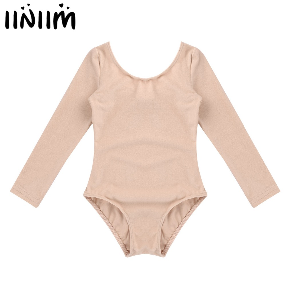 Girls Ballet Bodysuit Long Sleeve Ballet Dancer Leotard Turnpakje Costumes Gymnastic Swimsuit For Kids Dance Class Ballerina