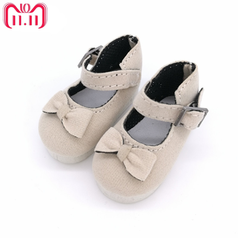 Tilda 5.6CM BJD Doll Shoes Causal Sneakers Accessories for Dolls,Mini Toy Boots with Bow,Fashion Shoes For Paola Reina Dolls цена