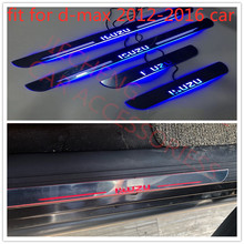 led moving running board captur door sill plates scuff LED plate fit for Isuzu D-MAX DMAX 2012-2016