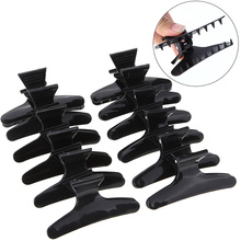 Black Butterfly Hair  Clips For Girls Plastic Section Clamps