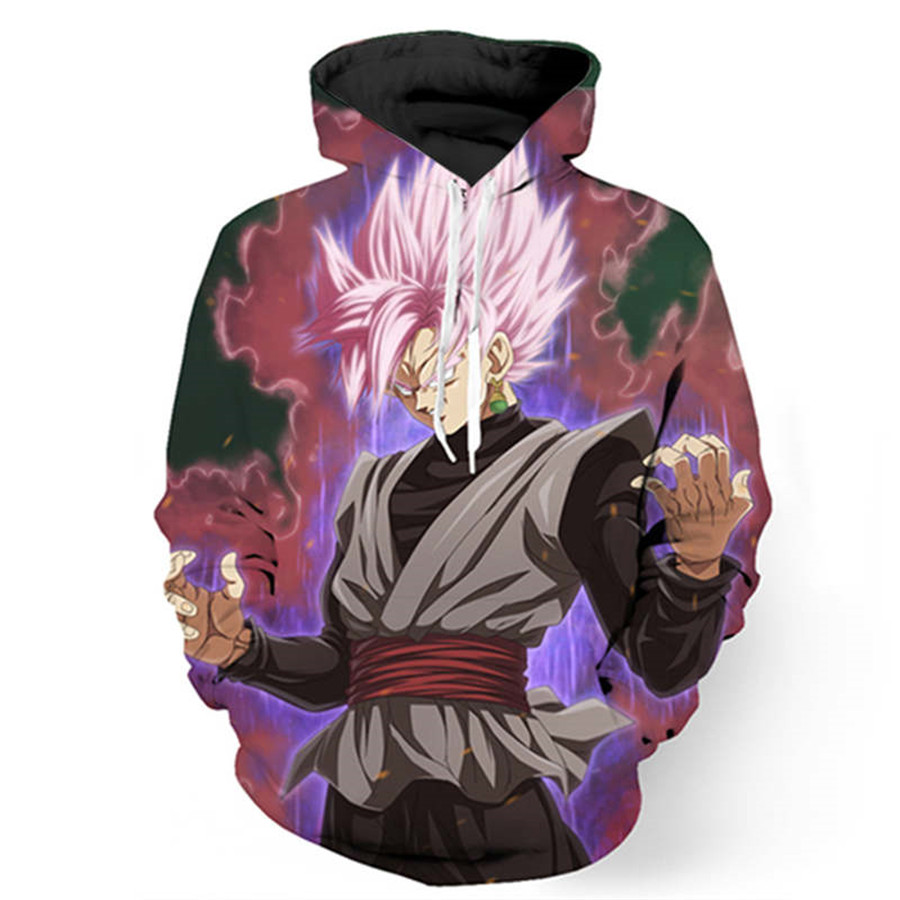 Dragon Ball Z Hoodies Son Goku 3d Printed Hooded& Sweatshirt 2017 New Fashion Goku Male Hoody One Piece Anime Hoodie Men US Size