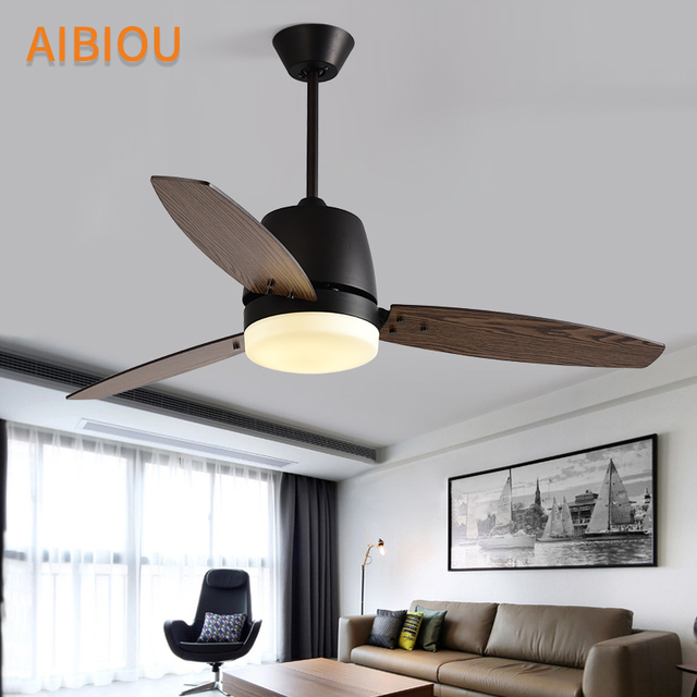 Aibiou Modern Led Ceiling Fans For Dining Room White Cooling Ceiling