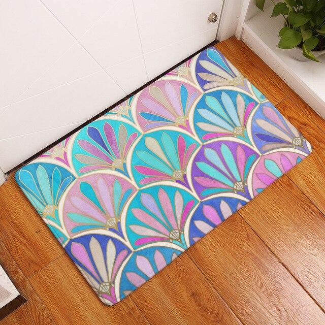 Mdct Stained Gl Design Rainbow Decorative Floor Rugs Mats Kitchen Bathroom Toilet Living Room Door