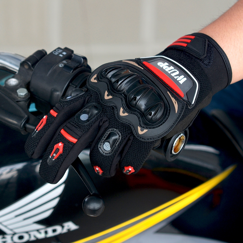 Racing Moto VTT Equitation Protect Blindé En Cuir Gants Plein Doigt L/XL/2XL dans Gants de Automobiles et Motos