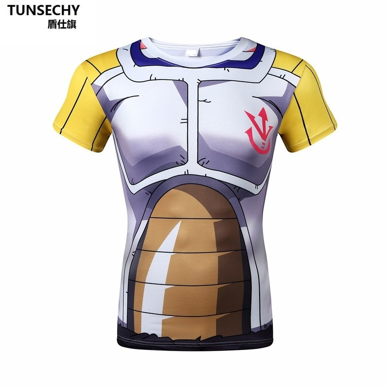 Seven dragon ball characters, role play, short sleeved armor, jacket, gyms, tights, fashion T-shirt punk style.Tops Tees