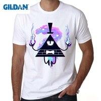 GILDAN Gravity Falls Mężczyźni T-shirt Halloween Gravity Spada t shirt Cartoon Drukowane Krótkim rękawem Drukowane Topy Tee