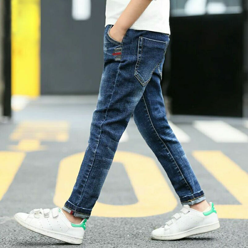 HTB1XMRMXzzuK1Rjy0Fpq6yEpFXaD - Autumn Spring Baby Boys Jeans Pants Kids Clothes Cotton Casual Children Trousers Teenager Denim Boys Clothes 4-14Year