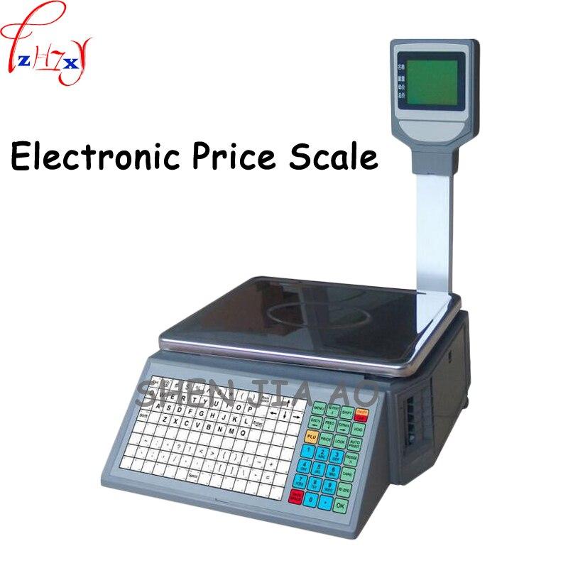 Supermarché prix électronique échelle code à barres impression prix échelle anglais arabe haute précision prix échelle 110/220 V 1 PC