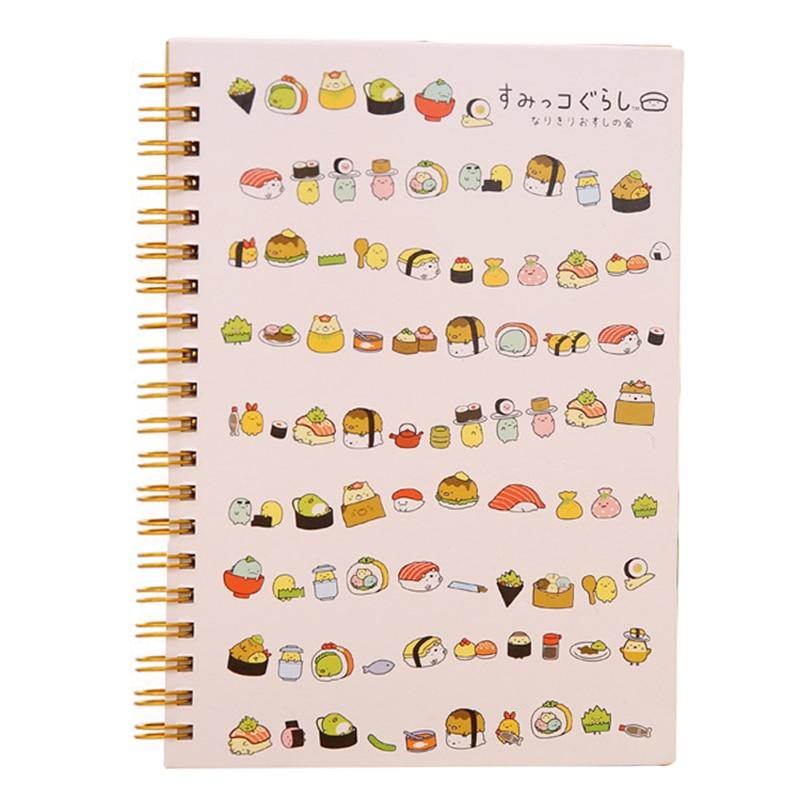 Kawaii Japan Cartoon Rilakkuma & Sumikkogurashi Coil Notebook/diary Agenda/pocket Book/office School Supplies sushi With A Long Standing Reputation