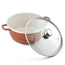 QueenTime 5pcs/set Non-Stick Frying Pan Cooware Set Wood Truners Spatula Soup Pot Holder Aluminum Alloy Pan Combo Cooking Tools