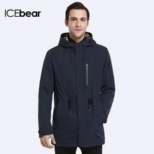 ICEbear 2018 Trench Coat For Men Spring Autumn Coat New Brand Casual Medium Long Brand Coats 17MC017D