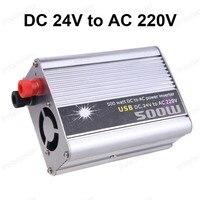 car styling 500W DC 24V to AC 220V Modified Sine Wave USB 5V Output charger Car Power supply transformer
