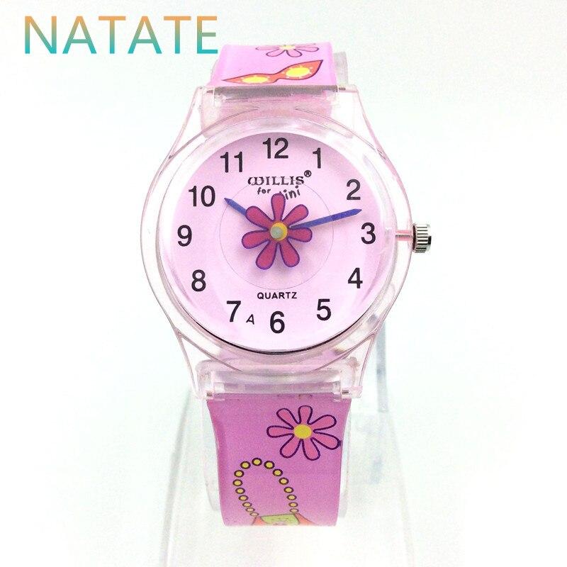 8b606e0cab2 NATATE Willis Mini Padrão de Design de Moda As Mulheres Se Vestem Flores  Rosa Quente Resistente À Água Analógico de Quartzo Das Senhoras do relógio  de Pulso ...