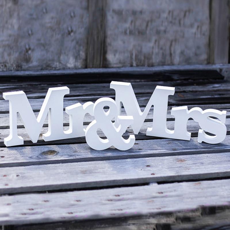 Комплект из 3 предметов много Mr & Mrs свадьба знак большой буквы Свадебная вечеринка украшения для стола сладкий Домашний Декор поставка парт...