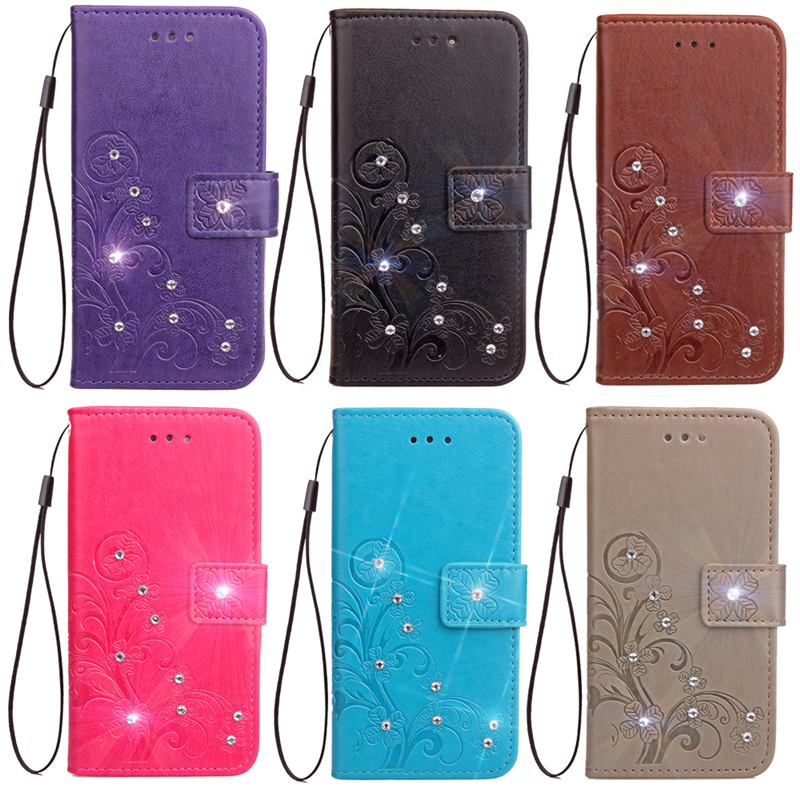 Case For OPPO A 57 Phone cases bag Wallet PU Leather For Coque OPPO A57 case cover Flip Stand Glitter Diamond