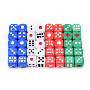 10 PCS Acrylic d6 dice,6 sided gambling small dice for Playing Game White red green blue 12*12*12mm