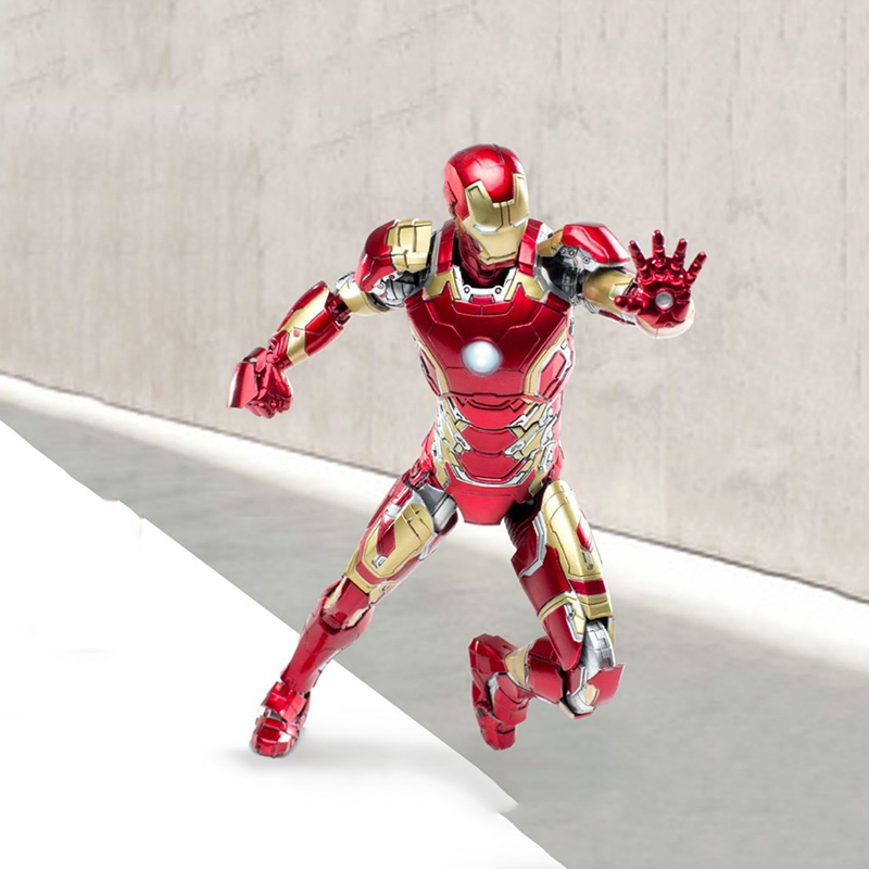 The Avangers Iron Man MK43 Full Set Action Figures 1/12 Scale Movable Models Boys Toys LED Functions man kung mk cb50