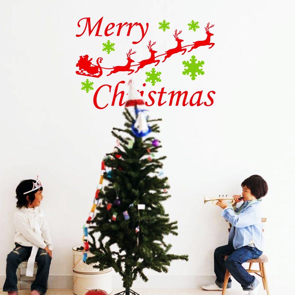 compare prices on deer window decal online shopping buy low price christmas decoration decal window stickers removable glass wall xmas merry christmas deer sleigh ride wall sticker supply
