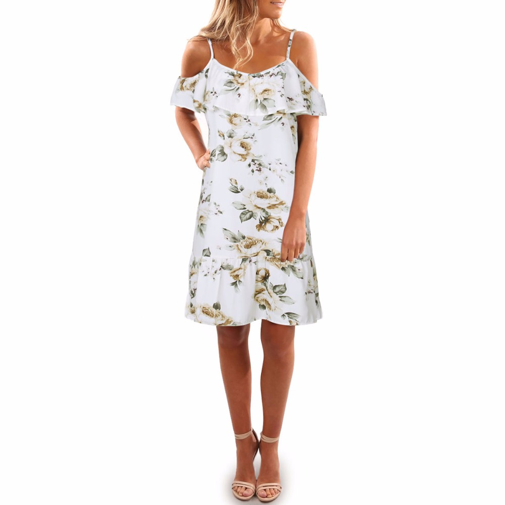 Popular new fashion personality Italian ladies strap sexy loose casual high waist print female dress in Dresses from Women 39 s Clothing