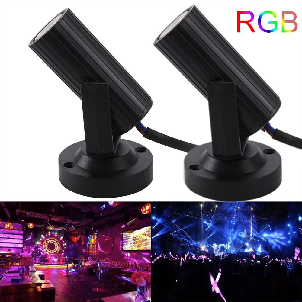 1pc ミニクリスマスプロ RGBW LED 舞台照明スポットライトパーティー Ktv バー