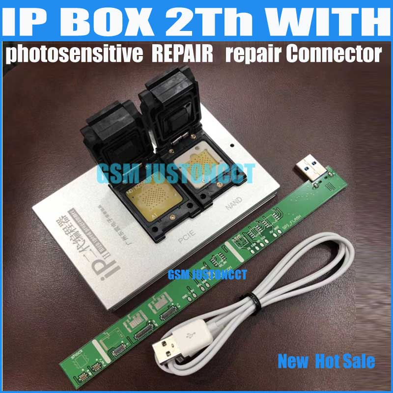IPBox V2 IP BOX 2th  NAND PCIE 2in1 High Speed Programmer+photosensitive repairConnector +for iP7 Plus/7/6S / 6plus /5S/5C / 5