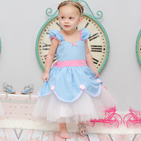 New Christmas Gift Baby Girls Dress Cinderella Cosplay Costume Beauty Party Dress Princess Dress Cinderella Costume