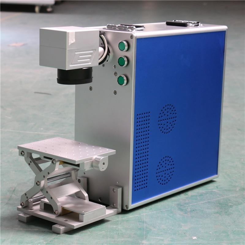 Free shipping 20W Raycus portable optical fiber co2 laser marking machine metal laser engraving machine