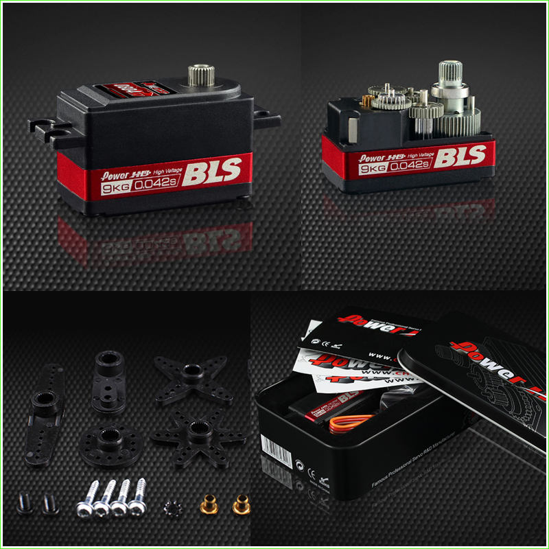 1 Pcs Power HD Servos BLS-0804HV High Voltage Digital Brushless Motor Titanium Steel