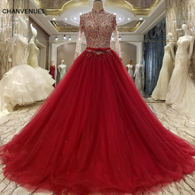 LS88976 evening gown corset back beaded A line long evening dress on sale abendkleider lang real photos
