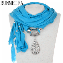 [RUNMEIFA]   Brand  NEW diamond pendant scarf rhinestones charm Jewelry scarves necklace women's pendant scarf
