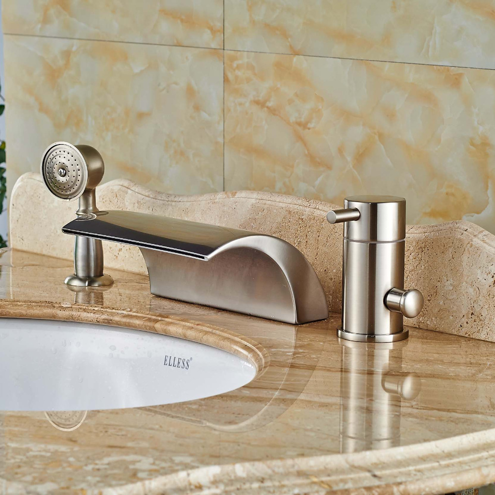 Waterfall Bathtub Online Get Cheap Waterfall Bathtub Faucet Brushed Nickel