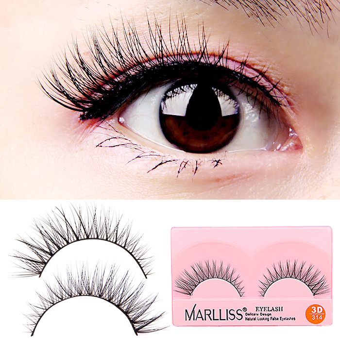 1 Pairs New Type Best Quality Soft Makeup Handmade Eyelashes Natural