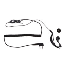 2-Pin In-Ear Clip On Oortelefoon Met Microfoon Voor Baofeng Motorola Walkie Talkie(China)