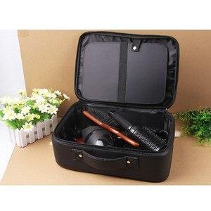 Image 3 - Profesyonel üst sınıf PU deri berber kuaförlük elektrikli saç makası çantası saç kesme makinesi alet çantası tutabilir saç kurutma makinesi çanta