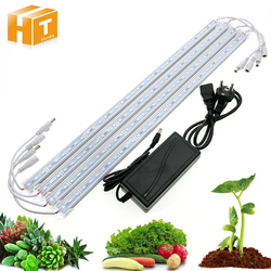 DC12V 5630 Led Bar Rigid Strip IP68 Waterproof LED Grow Plant Growing Light Red Blue 3:1 For Aquarium Greenhouse Hydroponic