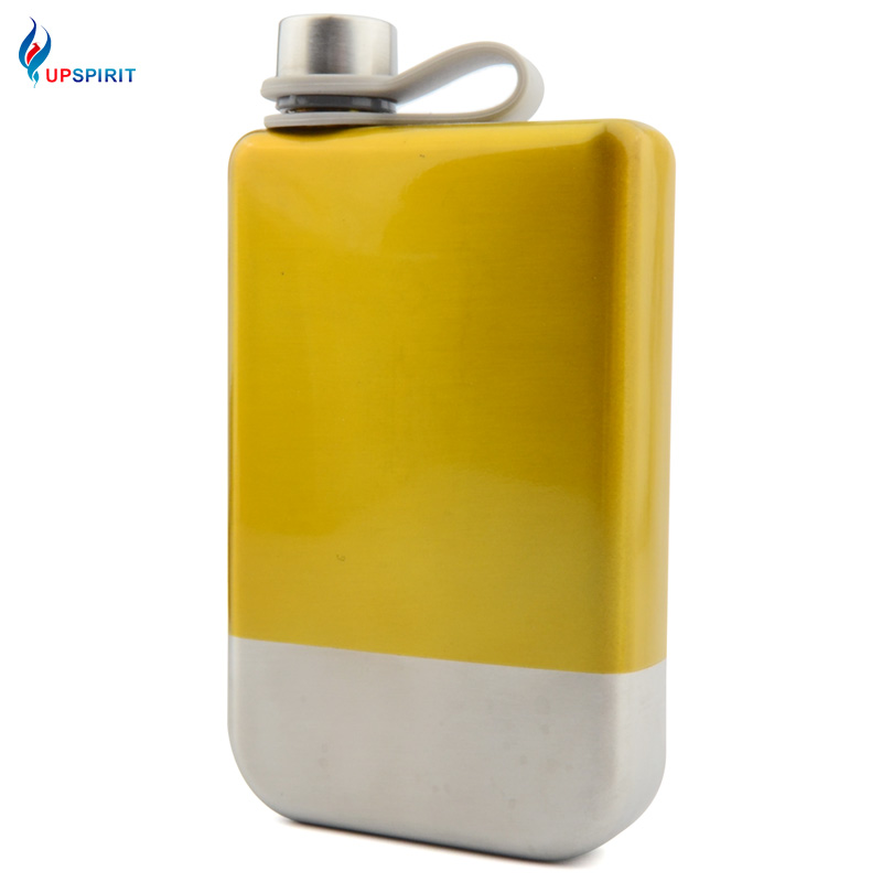 Upspirit 8 Ounces Painted Stainless Steel Hip Flask Liquor Whisky Outdoor Portable Pocket Flasks Wine Jugs Drinkware Bottle