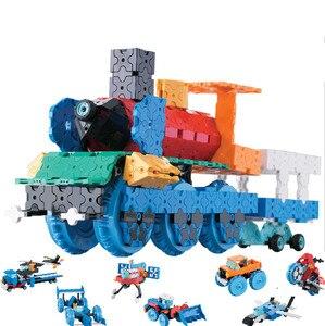 Image 1 - Criativo tecnologia vapor brinquedos blocos 3d tijolos de construção 8 em 1 carro diy kit alunos invenções artesanais experimentos brinquedos vapor