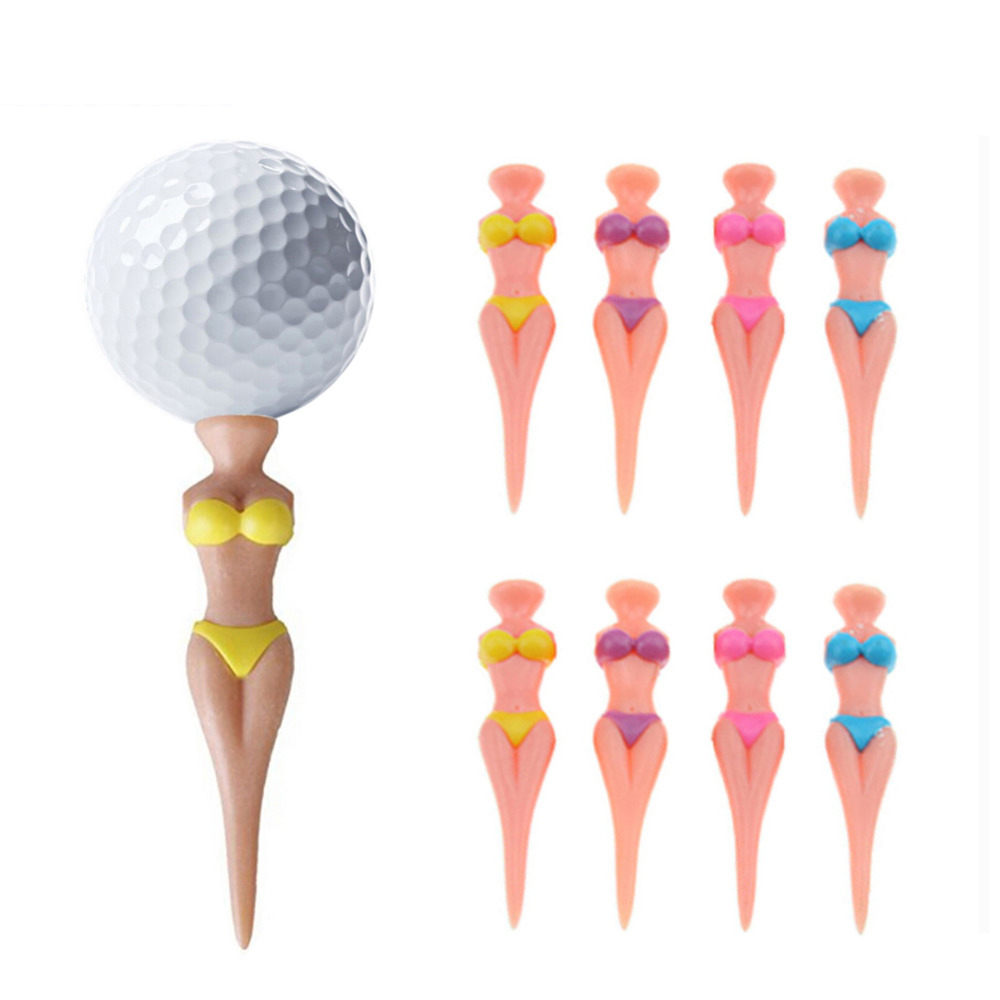 10pcs/bag Size 83mm Sexy Bikini Lady Newest Design Golf Tees Plastic Golf Tees
