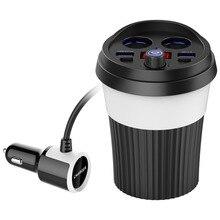 Bluetooth автомобильный fm-трансмиттер светодиодный дисплей автомобиля напряжения батареи обнаружения громкой связи Поддержка bluetooth стерео воспроизведения музыки зарядное устройство