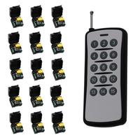 500m Mini Size AC 220V 1CH RF Wireless Remote Control Switch Relay 15pcs Receiver 1pcs 15CH
