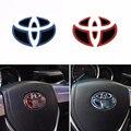 1 * Car Styling Nova Moda Logotipo Volante Emblema Emblemas Etiqueta Tampa De Borracha Para Toyota Corolla RAV4 Camry Highland Prius