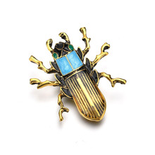 Beetle Brooches For Women Men Badge On A Backpack Gifts Enamel Pin Flower Animal Insect Brooch Unisex Jewelry Wholesale Prices